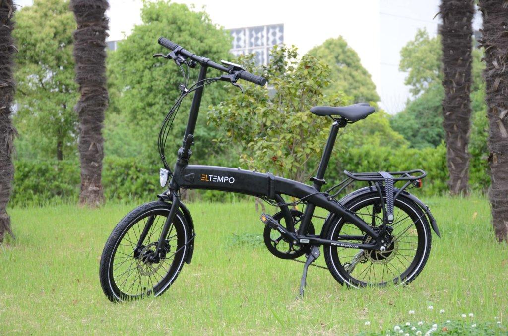 Eltempo Metro - Sammenleggbar el sykkel - Sort